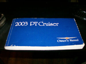 2003 PT CRUISER QWNERS MANUAL