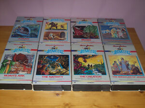 bible stories on vhs/religious box