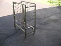 Folding cot and bed spring