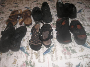 Shoes and sandals all size 9, for sale, great condition.