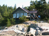 Island and cabin for sale