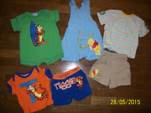 Disney Tiger & Winnie The Pooh Summer Clothing 6-12 months