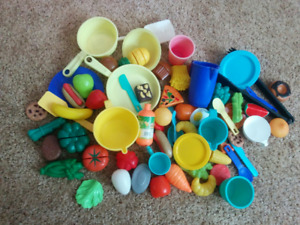 Play food, large amount, over 50