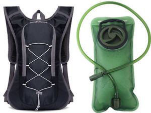 Waterproof Hydration Pack 2L Hydration Bladder (Black+Water Bag)
