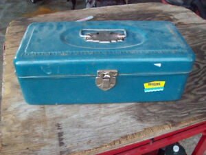 FISHING TACKLE AND BOX OLDER