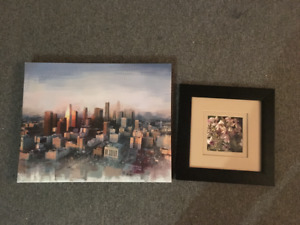 MOVING - 1 Canvas Painting and 1 Framed Photo