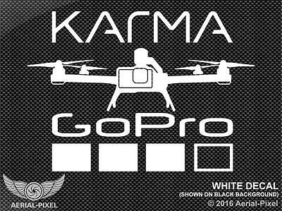 GoPro Karma Drone Window Decal Sticker Hero 5 Black / Session Quadcopter