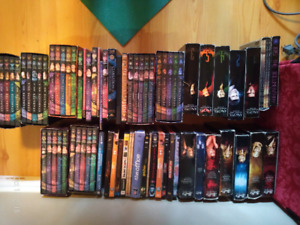 Almost 100 DVD's....$20 Complete seasons Buffy, Angel, Stargate