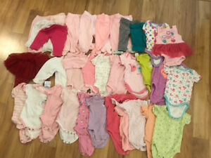 Lot of 0 - 3 baby girl clothing