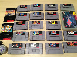 SNES Games: Zelda, Donkey Kong 1 & 2, Super Mario, Castlevania