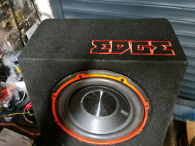 10 INCH EDGE SUB WITH BUILT IN AMP