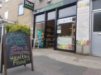 FANTASTIC ORGANIC RETAIL SHOP NEAR VICTORIA PARK IN THE HEART OF HACKNEY