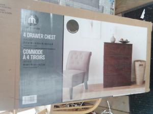 Brand new 4 drawer Hometrends chest dresser