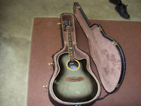APPLAUSE ELECTRIC ACOUSTIC GUITAR WITH CASE