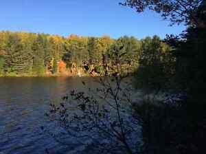 Lanaudière grand Terrain bord de l'eau Lac de la Fromentière.