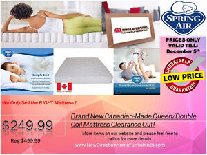 ◆Brand New Canadian-made Spring Air Queen Mattress only @249@ND