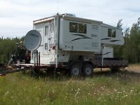 10-8 Citation Truck Camper & 24ft Flatbed Trailer