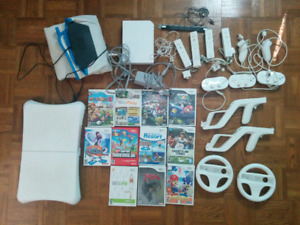 Wii Bundle with DDR Mat + Wii Fit + 10 games +
