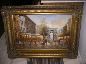 Vintage painting from the 1980's 46 1/2 X 34 1/2