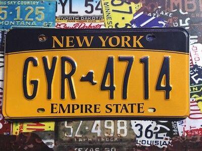 New York Gold American licence Plate GYR 4714