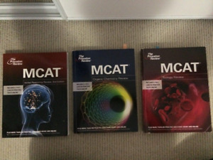 MCAT (Biology, Organic Chem and verbal. The Princeton review)