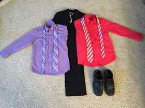 2-Piece Suit (sz. 10), 2 Dress Shirts (sz. 10), 2 Ties, & Shoes