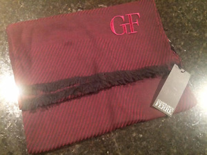 Gianfranco Ferre Red Burgundy Scarf -100% Authentic