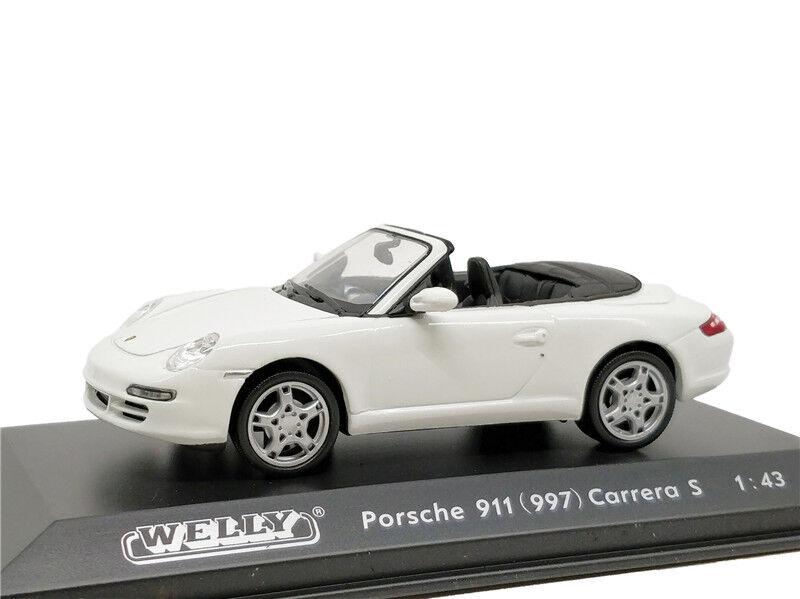 1:87 WELLY Porsche boxter s cabrio-rojo
