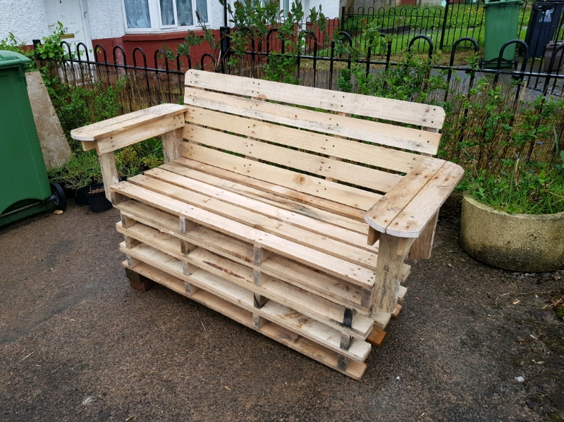 Pallet Sofa Garden Bench Furniture Upcycle 2 Seater
