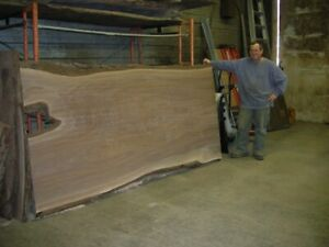 Kiln Dried Live edge walnut, wide slabs, ash, maple oak, boards