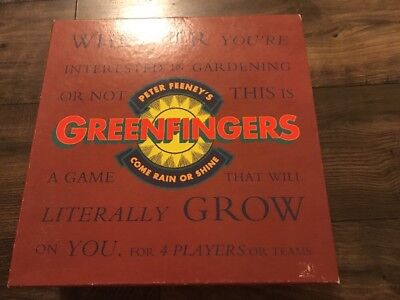 Peter Feeney's Greenfingers Board Game Come Rain Or Shine Gardening Game HTF!