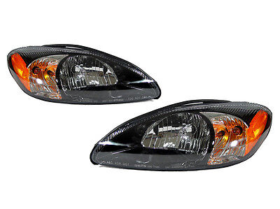 DEPO 2000-2007 Ford Taurus Replacement Black Head light Set Left + Right