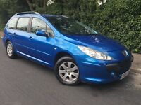 2006 DIESEL PEUGEOT 307 - 1 YEARS MOT - 55MPG - ESTATE