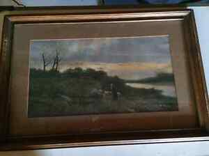 Framed Lithograph Departing Day