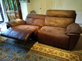 3 seater Bourbon electric sofa by Harveys