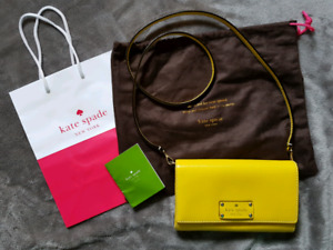 Kate Spade Yellow Natalie Wellesley Crossbody Clutch Bag