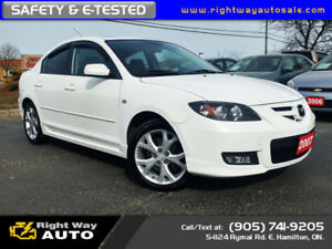 2007 Mazda Mazda3 GT | LOW KMS | MINT | SAFETY & E-TESTED