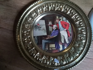 Peerage Brass Wall Plates, England, Vintage - NEW PRICE