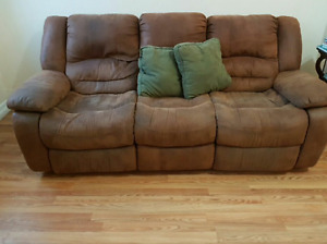 Used Brown Double Reclining Sofa