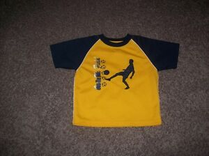Boys Blue And Yellow Soccer Shirt Size 4