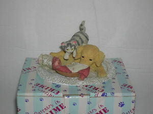 Kitten and Puppy (Partners in Crime) figurine NEW