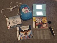 Teal Nintendo DS lite & extras