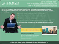 Academic Essays- A+ Writers, Quality Work at affordable rates!!!