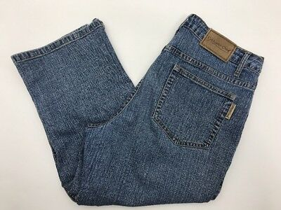 Denim-stretch-capris (Coldwater Creek Women's Denim Stretch Capris Size P8 Medium Wash)