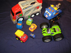 Lot of Toys for Boys Cars and Trucks