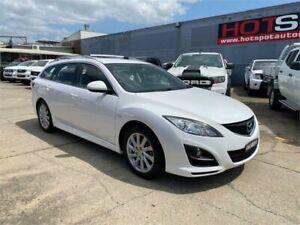 2010 Mazda 6 GH1052 MY10 Classic White 5 Speed Sports Automatic Wagon Granville Parramatta Area Preview