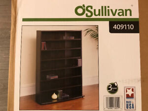 O'Sullivan Media Storage Tower (Wood shelf)