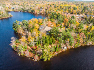 Lakefront estate home and vacant land: sheldrake lake/hubley