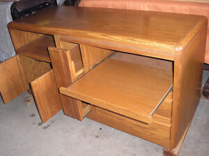 Natural Solid Oak TV OR Entertainment Stand