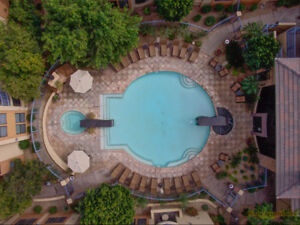 "Scottsdale Luxury Condominium ""Pool Side Clubhouse View"""